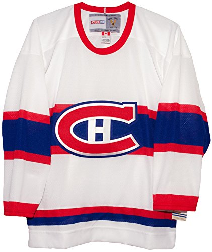 Montreal Canadiens White Vintage CCM Hockey Jersey (XL)