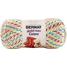 Bernat  Softee Baby Colors Yarn-3 Light Gauge 100% Acrylic - 4.25 oz -  White Rainbow  -