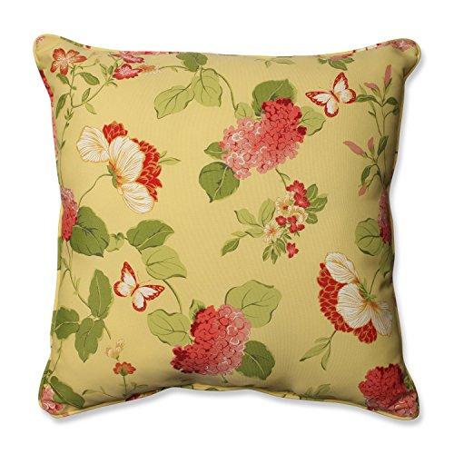 (Pillow Perfect Outdoor/Indoor Risa Lemonade Floor Pillow, 25
