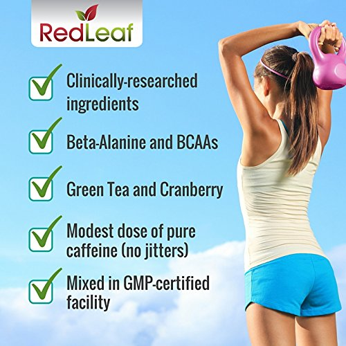 Red-Leaf-Pre-Workout-Energizer-Powder-BCAAs-Beta-Alanine-Amino-Acids-Green-Tea-Pre-Workout-Supplement-with-Natural-Cranberry-Lime-Flavor-30-Servings-Pre-Workout-for-Women-and-Men