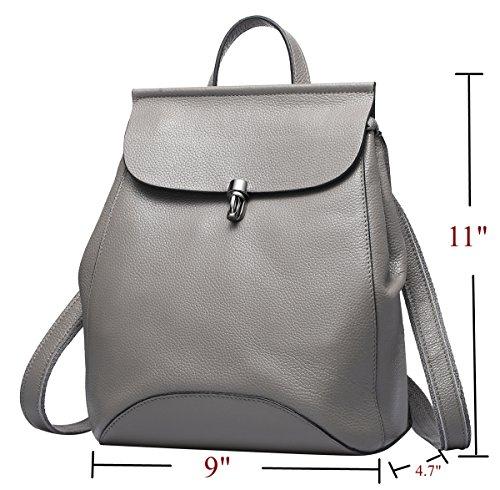 Daypacks Flap Backpack For Women Stylish Leather Genuine Leather Cute Fashion Black With Small Mini Backpack YxOYHSwT