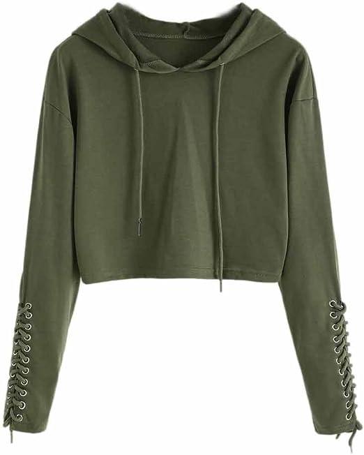 S-XL Women/'s Hooded Hoodie Sweatshirt Jumper Sweater Crop Top Coat Pullover Tops