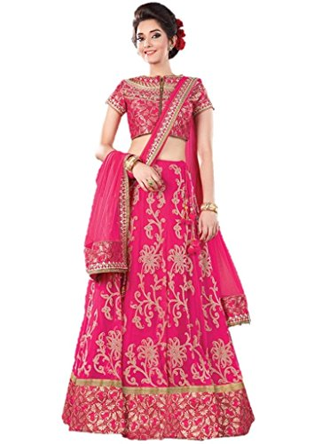 Ethnicwear Elegant Pakistani Indian Traditional Latest Resham Embroidery Zari Wedding Bridal Reception Silk Lehenga Choli ()