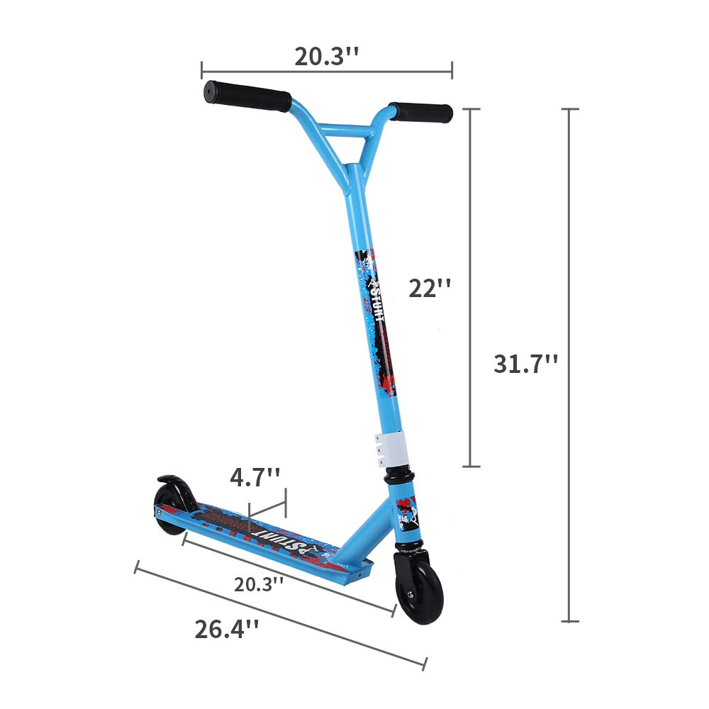 Pro Kick Scooter for Adults 2 Wheel for Beginners Stunt Scooter for Age 7 up Teens 220lb Weight Limit Pro Stunt Free Style Scooter Birthday Gifts for Children Boys Girls by Conlink (Image #7)