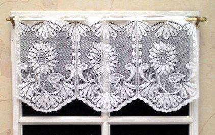 Rideau Brise bise 30 cm Blanc Brillant: Amazon.fr: Cuisine & Maison