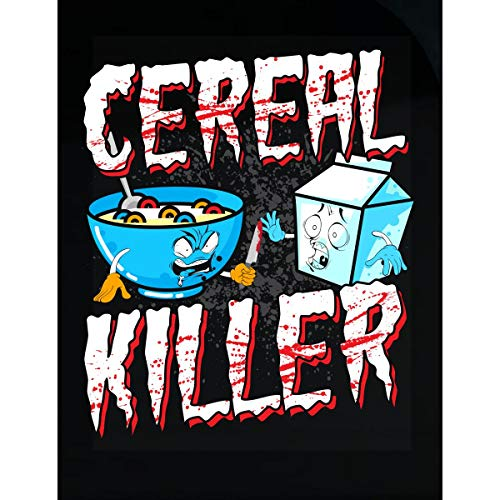 Wowteez Funny Halloween Idea Cereal Killer Trick Or Treating - Transparent Sticker