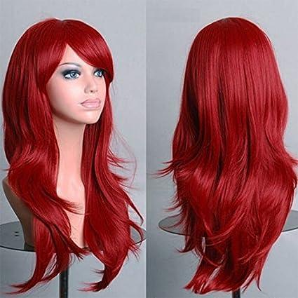 daorier 70 cm peluca Cosplay peluca femenina Cos animación pelo largo para mujer
