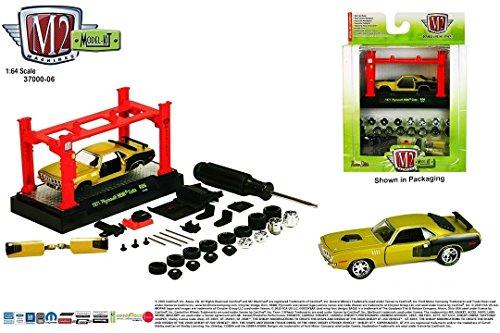 Plymouth Screws (1971 PLYMOUTH HEMI CUDA * Model Kit Release 6 * M2 Machines 2015 Castline Premium Edition 1:64 Scale Die-Cast Vehicle Model Kit ( R06 15-05 ))