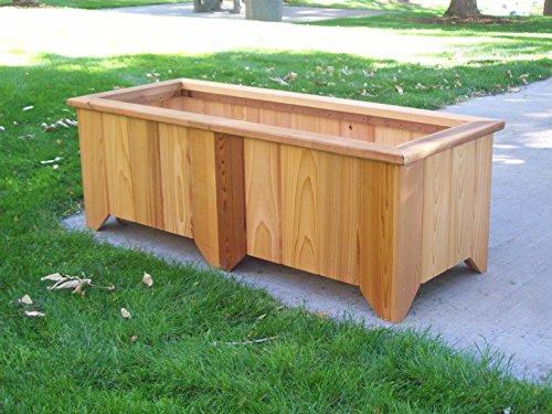 Cedar Planter Bench - Wood Country #6 Rectangular Cedar Planter, Cedar Stain