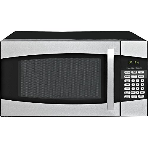 Hamilton Beach 0.9 cu ft Auto Digital LED Display Countertop Microwave Oven, Black