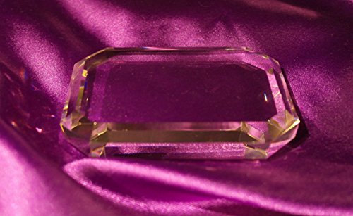 Engraved Gem-Cut Rectangle Crystal Paperweight (Rectangle Crystal Paperweight)