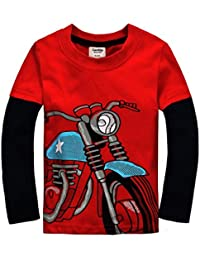 Little Boys Cotton Long Sleeve T-Shirts (18 Months-7 Years)