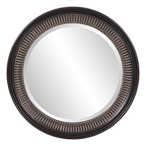 Howard Elliott Monmouth Mirror, Antique Brown Resin Round Accent Mirror