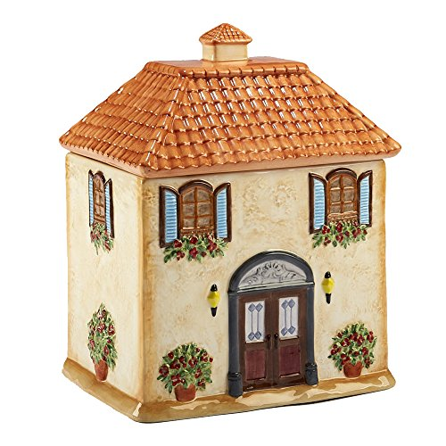 Certified International Corp 23684 Piazzette 3-D Villa House Cookie Jar, Multicolor