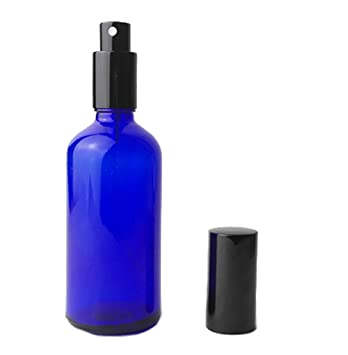 Botella con atomizador rellenable, de color azul. 10 ml, 20 ml, 30 ml, 50 ml, 100 ml: Amazon.es: Belleza