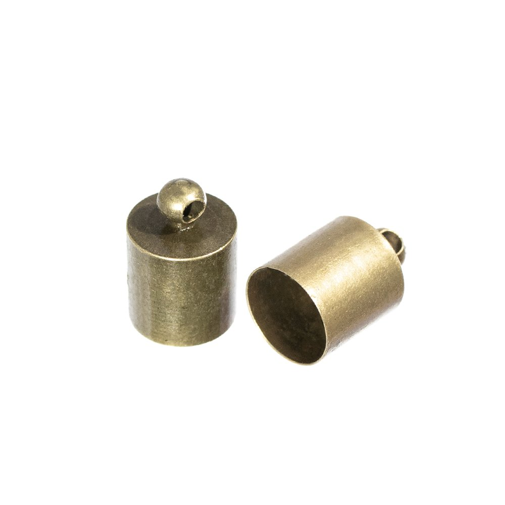 Craft County Cord End Caps – 3mm, 5mm, 6mm, 7mm, 8mm, 9mm, 10mm, 12mm or 13mm – Bronze or Silver – 2, 5, 10, 25, 50 or 100 Packs