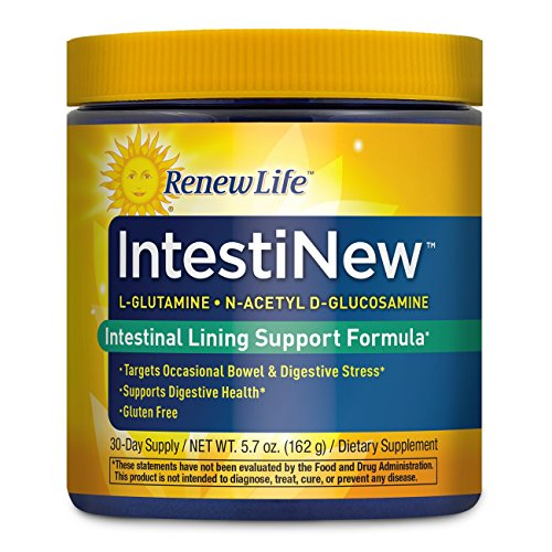 Renew Life Adult Digestive Aid - IntestiNew - Intestinal Lining Support Formula - Gluten, Dairy & Soy Free - 5.7 Oz. Powder (Renew Life 3 Day Cleanse For Drug Test)