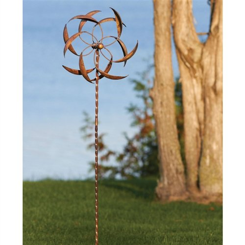 Copper Plated Metal Wind Spinner Stake for Outdoor Yard Garden by Unknown (Image #1)