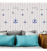 Peel and Stick Wallpaper Removable Contact Wallpaper Thicken Nautical Wall Sticker Decal Paper fo...