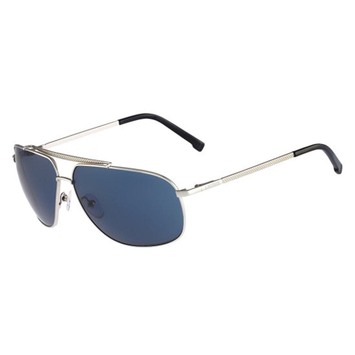 757a6a0e4ca Lacoste Sunglasses 154S 045 Silver Blue  Amazon.ca  Luggage   Bags