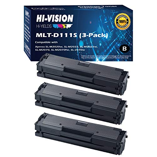- HI-VISION HI-YIELDS Compatible Toner Cartridge Replacement for Samsung MLT-D111S ( Black , 3 pk )
