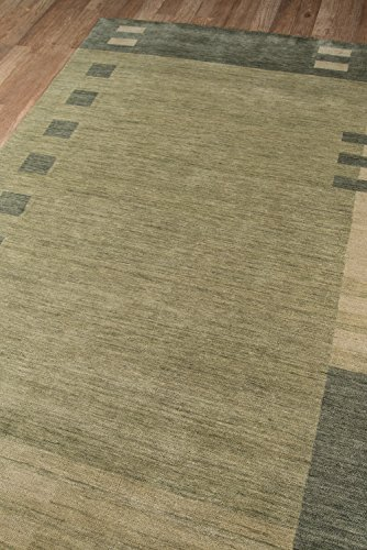 Momeni Rugs Gramercy Collection, 100 Wool Hand Loomed Contemporary Area Rug, 5 x 8 , Green