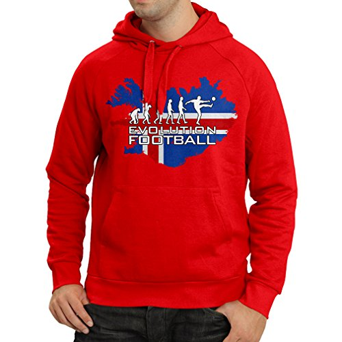 fan products of N4473H Hoodie Football Evolution - Icland (XX-Large Red Multicolor)