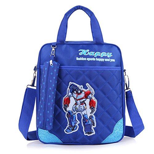 Sapphire Handbag - YOURNELO Kid's Cute Cartoon Lightweight School Crossbody Bag Backpack Handbag for Boys Girls (Transformers Sapphire)