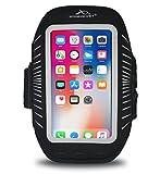 Armpocket Racer Plus Ultra Thin Phone Armband, Black, Medium Strap - Fits iPhone 8 Plus/7 Plus/6 Plus, Galaxy S7 Edge, Pixel 3, or Phones up to 6.3''