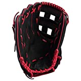 Wilson A360 12-INCH RIGHT-HAND BASEBALL GLOVE (12 Inch, Black/Red)