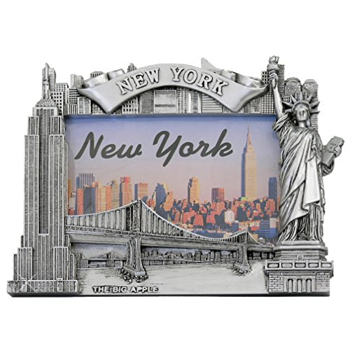 Zizo New York Picture Frame -Poly Silver, New York Picture Frames, New York Souvenirs ...