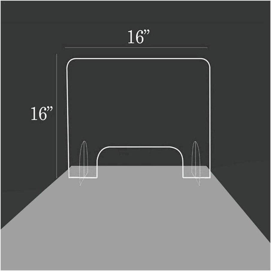 LHFSM 40 X 40 cm de Mampara de protección en metacrilato Transparente,Separador Protector Farmacias,for contadores y Transacción de Windows, de Protección contra la Tos y los estornudos: Amazon.es: Hogar