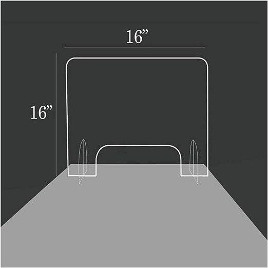 LHFSM 40 X 40 cm de Mampara de protección en metacrilato Transparente, Separador Protector Farmacias,for contadores y Transacción de Windows, de Protección contra la Tos y los estornudos: Amazon.es: Hogar