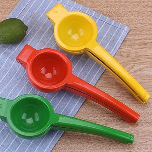 Triamisu Aleación de Aluminio Manual Presión de Mano Exprimidor de Frutas Exprimidor de limón Cítrico Naranja Exprimidor de Lima Gadgets de Cocina para el hogar-Amarillo