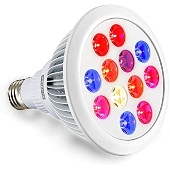 Swiftrans LED Grow Light Bulb, 24w Plant Grow Light with Full Spectrum for Indoor Plants Greenhouse and Hydroponic Growing
