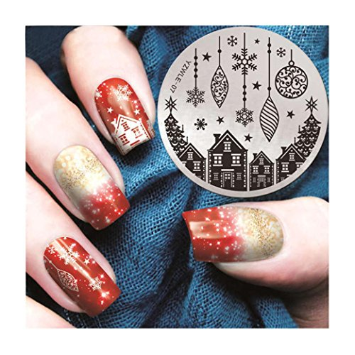 Nail Art Printing Plate Image Stamping Plates Manicure Template Tool DIY Christmas Gift for Nail Art (Color Image Printing)
