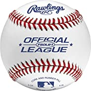 Rawlings Flat Seam Official League Competition Grade Baseball, White