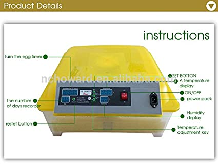 Buy ARE INCB-4048 48 Pieces Egg Incubator (Yellow) Online at