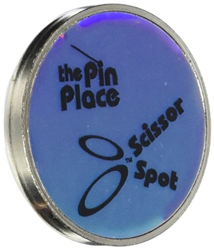 Blue Feather Scissor Spot/Pin Place Magnetic Holder-