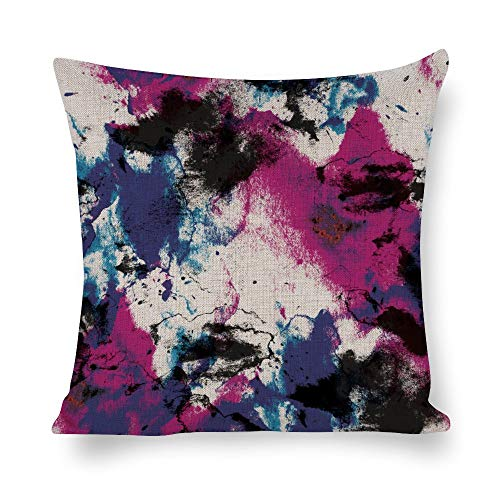 Welkoom Sofa Pillow Cases Animal Pillow Cases Dye Magenta Pink Purple Graphic Design Cotton Linen Decorative Cushion -