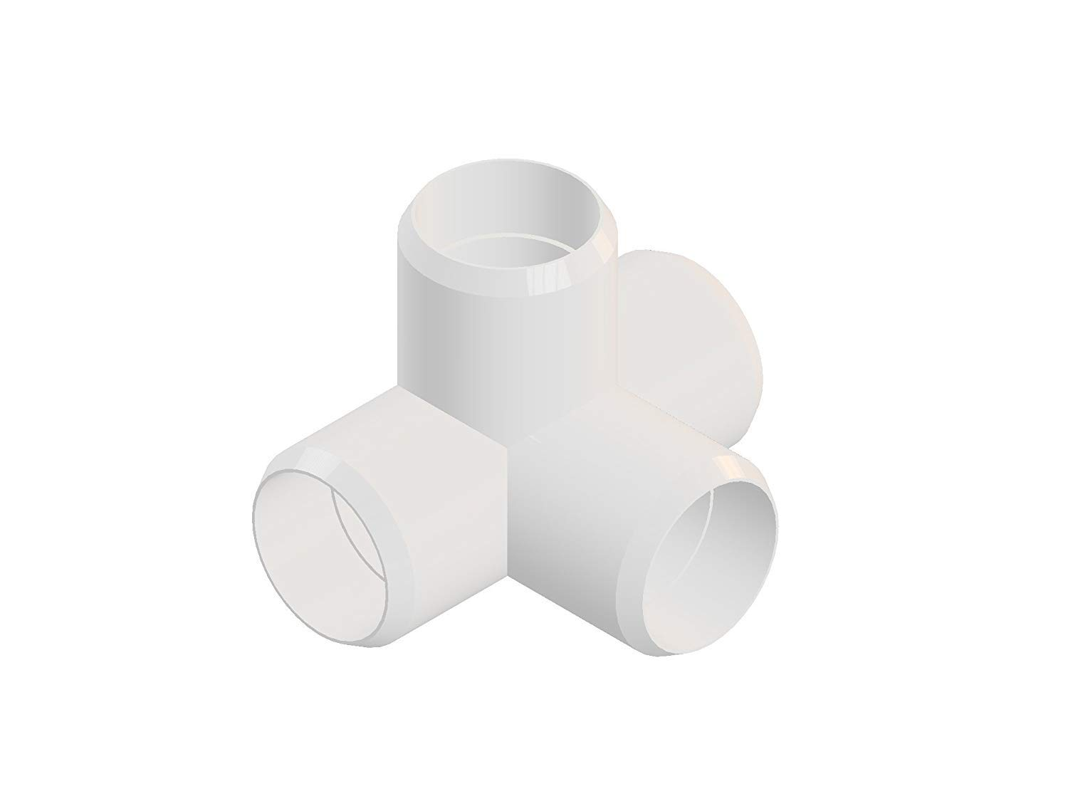 Sustainable Village - PVC Pipe Fittings for Building Furniture and Cool Structures   (3/4 Inch, 4-Way Elbow, 16)