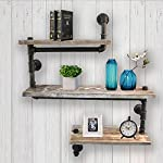 Reclaimed Wood & Industrial Heavy Duty DIY Pipe Shelf Shelves Steampunk Rustic Urban Bookshelf Real Wood Bookshelves and bookcases 7