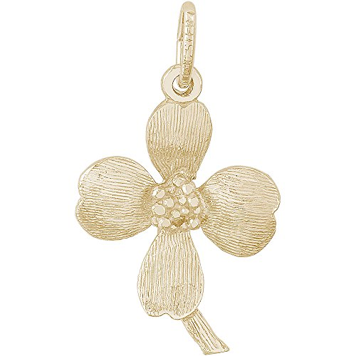 - Rembrandt Charms 10K Yellow Gold Dogwood Flower Blossom Charm (20.5 x 15.5 mm)