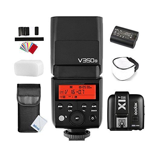 GODOX V350S TTL 2.4G HSS 1/8000s GN36 Li-ion Battery Camera Flash Speedlite with X1T-S TTL Wireless Flash Trigger for Sony a7RII, a7RII, a7R, a58, a99, ILCE6000L, a77 II, RX10, a9