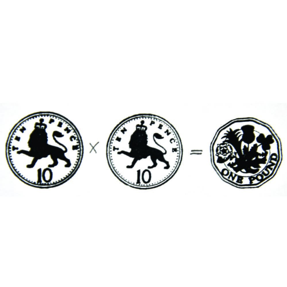 Pack of 8 Trodat 4630 Pound Sterling Coin Stamp
