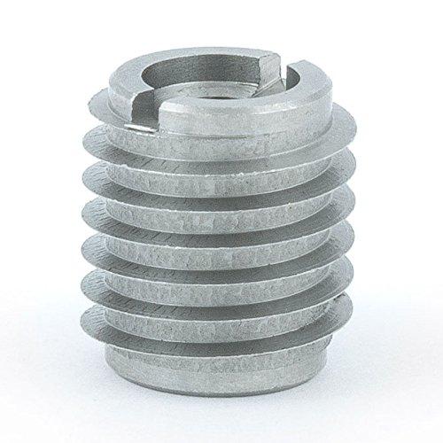 E-Z Lok Threaded Insert, 18-8 Stainless Steel, Knife Thread, 1/4''-20 Internal Threads, 0.625'' Length (Pack of 10) by E-Z LOK