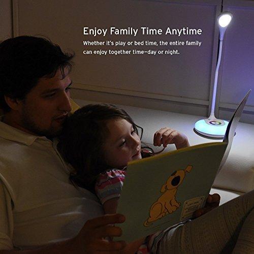 Etekcity LED Desk Lamp with Flexible Gooseneck Adjustable Brightness Level Night Light, 1000mAh Rechargeable Eye-caring Colorful Table Light with USB Port Touch Control (256 Base Color) by Etekcity (Image #6)