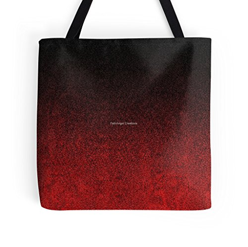 Red and Black Gradient Tote Bag, 3 Sizes - Gradiant Black