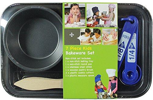 Kids Bakeware 7-Piece Cookware and Preparation Set by Kitchen Supplies