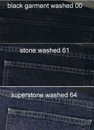 Herren-Stretchjeans, black garment washed, Gr. 54